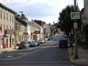 Here's a random picture of Main Street in Kutztown, PA