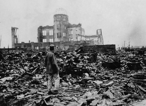 Hiroshima dome after bombing